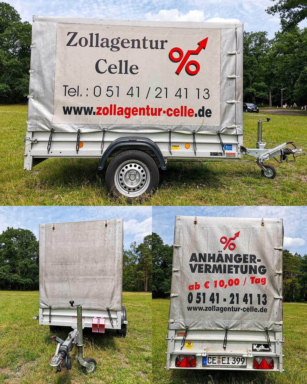 Zollagentur Celle Anhänger-Vermietung